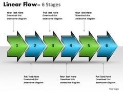Strategy Diagram Linear Flow Arrow 6 Stages Business Cycle Diagram
