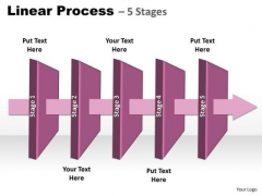 Strategy Diagram Linear Process 5 Stages Mba Models And Frameworks