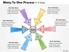 Strategy Diagram Many To One Arrow Process 6 Stages 12 Marketing Diagram