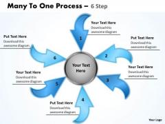 Strategy Diagram Many To One Process 6 Step 4 Marketing Diagram