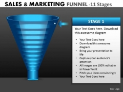 Strategy Diagram Marketing Process Funnel Diagram With 11 Stages Strategic Management