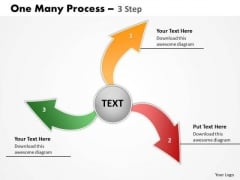Strategy Diagram One Many Process 3 Step Business Cycle Diagram