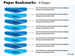 Strategy Diagram Paper Bookmarks 8 Stages Marketing Diagram
