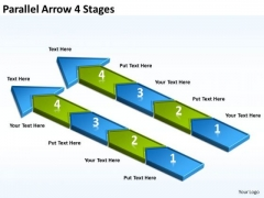 Strategy Diagram Parallel Arrow 4 Stages Marketing Diagram