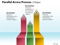 Strategy Diagram Parallel Arrow Process 3 Stages Business Cycle Diagram