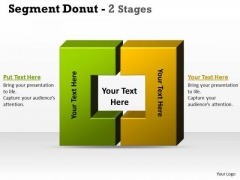 Strategy Diagram Segment Donut 2 Stages Consulting Diagram