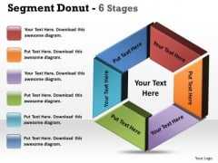 Strategy Diagram Segment Donut 6 Stages Circular Consulting Diagram