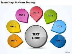 Strategy Diagram Seven Steps Business Strategy Marketing Diagram