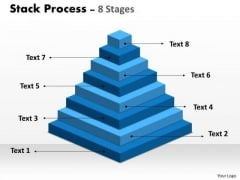 Strategy Diagram Stack Process 8 Stages For Sales Process Business Diagram