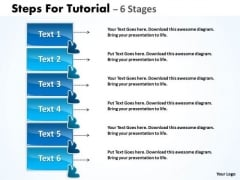 Strategy Diagram Steps For Tutorial 6 Stages Sales Diagram