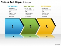Strategy Diagram Strides And Steps 3 Stages Business Finance Strategy Development