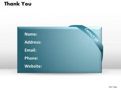 Strategy Diagram Thank You With Address Details Consulting Diagram