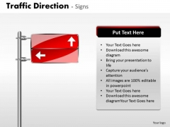 Strategy Diagram Traffic Direction Signs Business Cycle Diagram
