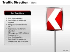 Strategy Diagram Traffic Direction Signs Business Diagram