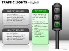 Strategy Diagram Traffic Lights Style Business Cycle Diagram