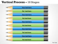 Strategy Diagram Vertical Process 10 Stages Business Diagram